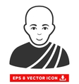 Buddhist Monk EPS Icon vector image vector image