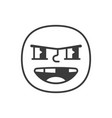 bully smile fase black and white emoji eps 10 vector image vector image