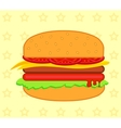 Burger meat eps 10 vector image vector image