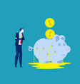 business person with leaking piggy bank business vector image