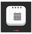 calendar web icon gray icon on notepad style vector image