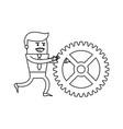 cartoon businessman icon image vector image vector image