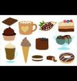 cartoon chocolate sweets dessert vector image vector image