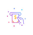 cash money line icon banking currency vector image