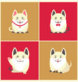 chinese new year animal pet pig animal in collar vector image