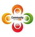 Community and people graphic vector image vector image