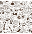 Cookery - seamless background vector image vector image