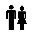 couple flat icon vector image vector image
