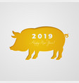 cut out pig in paper design isolated on white vector image