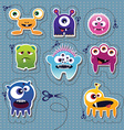 cute colorful monsters vector image
