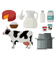 dairy milk products organic food healthy cream vector image