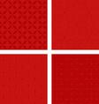 Dark red seamless pattern background set vector image vector image