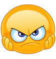 disappointed emoticon vector image vector image