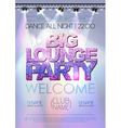 Disco background Big lounge party poster vector image vector image