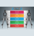dividers compas - business infographic vector image