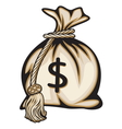 Dollar Money bag vector image vector image