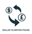 dollar to british pound icon mobile app printing vector image vector image