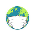 earth in medical mask vector image