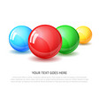 glass sphere realistic vector image vector image