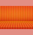 halloween orange striped room background vector image