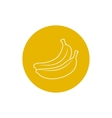 Icon Banana in the Contours vector image