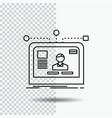 interface website user layout design line icon on vector image vector image