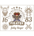 Jolly Roger - Pirate design elements set vector image vector image