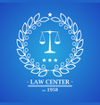 law firm office center logo desig vector image vector image