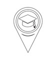 map pointer graduation cap icon vector image