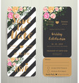 modern wedding invitation black and white stripes vector image vector image