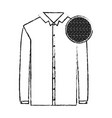 monochrome blurred silhouette of shirt long sleeve vector image vector image