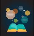 Open book concept design vector image vector image