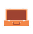 open empty suitcase for clothes vector image