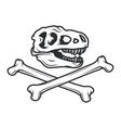 Prehistory dino Logo concept T-rex insignia vector image vector image