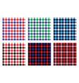 seamless checkered plaid pattern bundle 4 vector image