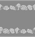 seamless decorative border from white seashell vector image