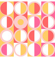 Seamless pattern of simple geometry Retro-style vector image vector image