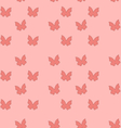 Seamless Texture with Butterflies Cute Vintage vector image vector image