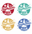 set authentic prints apparel in different vector image vector image