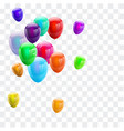 set colorful balloons isolated celebration party vector image