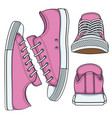 set with pink sneakers vector image