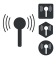 Signal icon set monochrome vector image