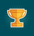 simple award trophy icon vector image vector image