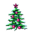 sketch of symbol christmas vector image vector image