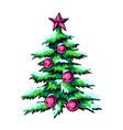 sketch symbol christmas vector image vector image