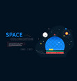space colonization - colorful flat design style vector image vector image