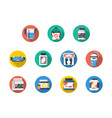 sport and fitness nutrition round icons set vector image vector image