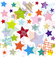 Stars abstract colorful seamless pattern vector image