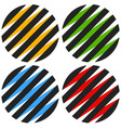 striped 3d spheres orbs sphere icons abstract vector image vector image
