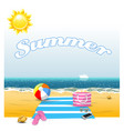 summer time on beach vector image